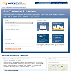 Caerleon Tradesmen - Find Recommended Tradesmen in Caerleon
