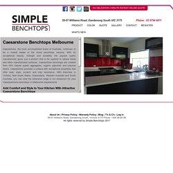 Caesarstone Benchtops Melbourne - Simplebenchtops.com.au