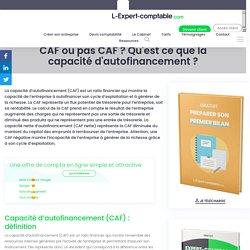 CAF ou pas CAF ? Qu'est ce que la capacité d'autofinancement ?