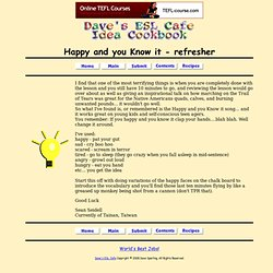 Happy and you Know it - refresher