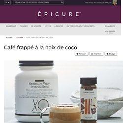 Café frappé à la noix de coco