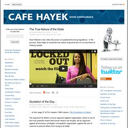Cafe Hayek — where orders emerge