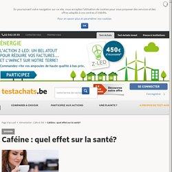 TESTACHATS 23/05/14 Caféine : quel effet sur la santé ?