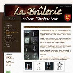 Cafetières/Machines expresso - la Brulerie : torréfaction artisanale, thés Dammann Frères, épicerie fine, Flers, Basse-Normandie