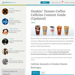Dunkin' Donuts Coffee Caffeine Content Guide (Updated)
