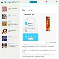 Caffeine in Lucozade