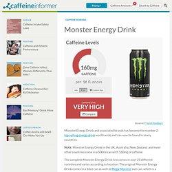 Caffeine in Monster Energy Drink
