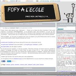 CAFIPEMF/PEMF : L'analyse de séance de classe -