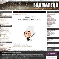 cafipemf - (page 3) - FORMATEUR