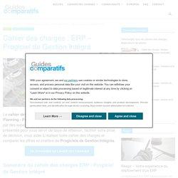 Cahier des charges - ERP - PGI