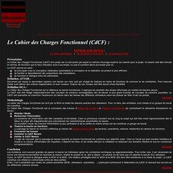 Cahier des Charges Fonctionnel (CdCF)