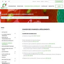 Cahier des charges & règlements