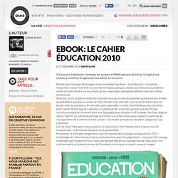 Ebook: le cahier éducation 2010 » Article » OWNI, Digital Journalism
