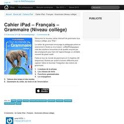 Cahier iPad - Grammaire