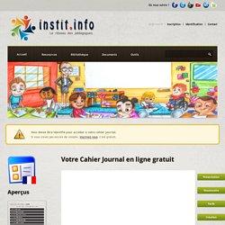 Cahier Journal en ligne gratuit