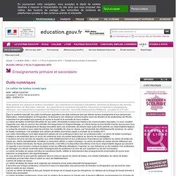 Le cahier de textes numérique - MENE1020076C