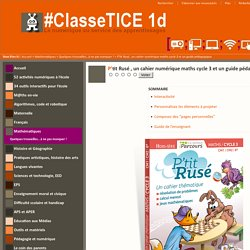 P'tit Rusé , un cahier numérique maths cycle 3 et un guide pédagogique