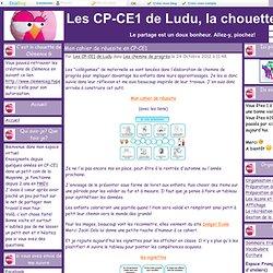 Mon cahier de réussite en CP-CE1 - Les CP-CE1 de Ludu, la chouette.