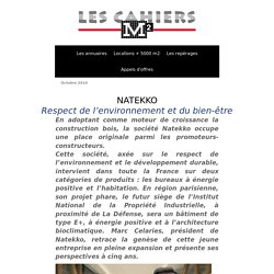 Les Cahiers M2 - Marc Celaries - NATEKKO - Octobre 2010