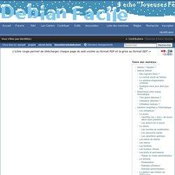 Les cahiers du débutant sur Debian 8 / Wiki