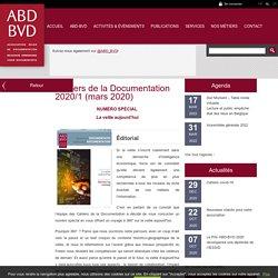 Cahiers de la Documentation 2020/1 (mars 2020) - ABD-BVD