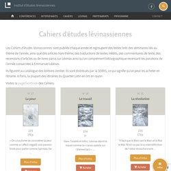 Cahiers d'études lévinassiennes
