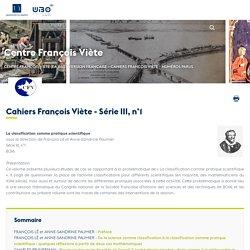 Cahiers François Viète - Série III, n°1 - Centre François Viète