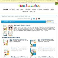 Cahiers de vacances à imprimer pour votre enfant en vacances- sur Tête à modeler