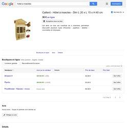 Caillard - Hôtel à insectes - Dim L 20 x L 15 x H 40 cm