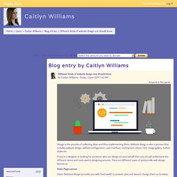 Happy Farm: Caitlyn Williams: Different kinds of website design one should know