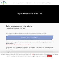 Cajas de texto con estilo CSS ᶥ Marabelia □