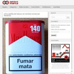 Una cajetilla de tabaco sin nombre comercial. Marlboro