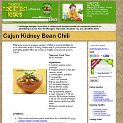 Cajun Kidney Bean Chili