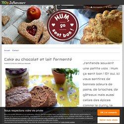 Cake au chocolat et lait fermenté