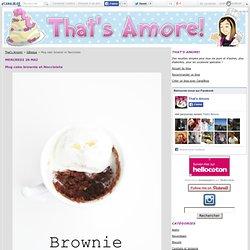 Mug cake brownie et Nocciolata