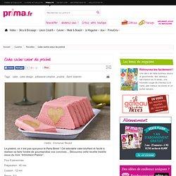 Cake cache-coeur de praliné