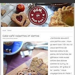 Cake café noisettes et dattes