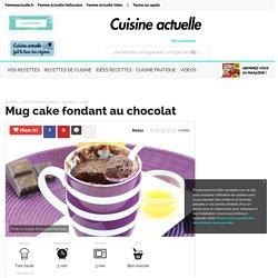 Mug cake fondant au chocolat, facile et pas cher