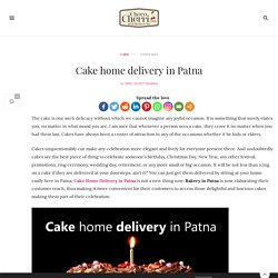 Cake home delivery in Patna