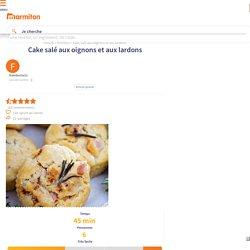 Cake salé aux oignons et aux lardons : Recette de Cake salé aux oignons et aux lardons