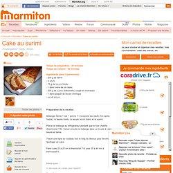 Cake au surimi : Recette de Cake au surimi