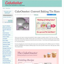 Cake-O-Meter: Convert Baking Tin Sizes - Cake Baker