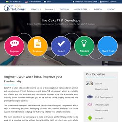Hire CakePHP developer that perfectly suits your needs