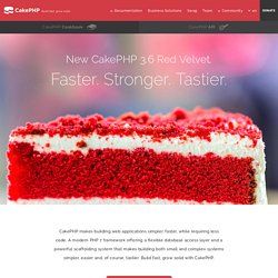 CakePHP: the rapid development php framework. Home