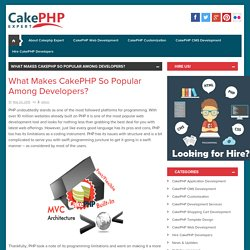 What Makes CakePHP So Popular Among Developers?