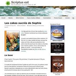 Les cakes sucrés de Sophie