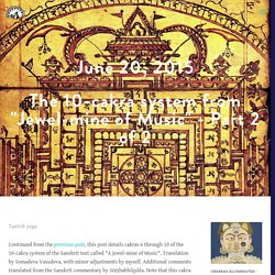 """The 10-cakra system from """"Jewel-mine of Music"""" - Part 2 of 2 — Tantrik Studies"""