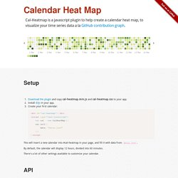 Cal-HeatMap : Calendar Heat map with d3.js