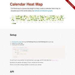 Cal-HeatMap : Calendar Heat map with d3.js