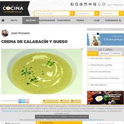 Crema de calabacín y queso - Juan Pozuelo - Receta - Canal Cocina